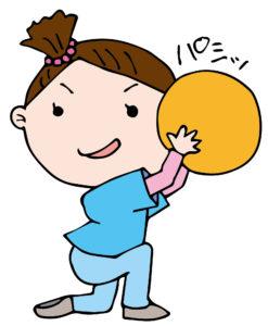 ボールをキャッチする女の子